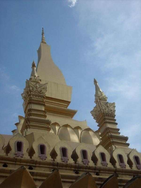 The Golden Temple in Vientiane, Laos