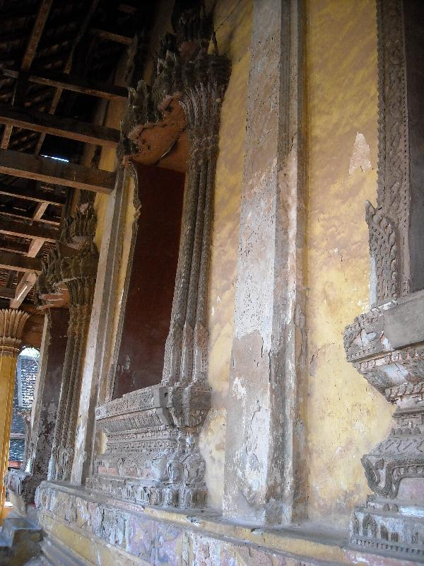 Inside the Si Saket Temple, Laos