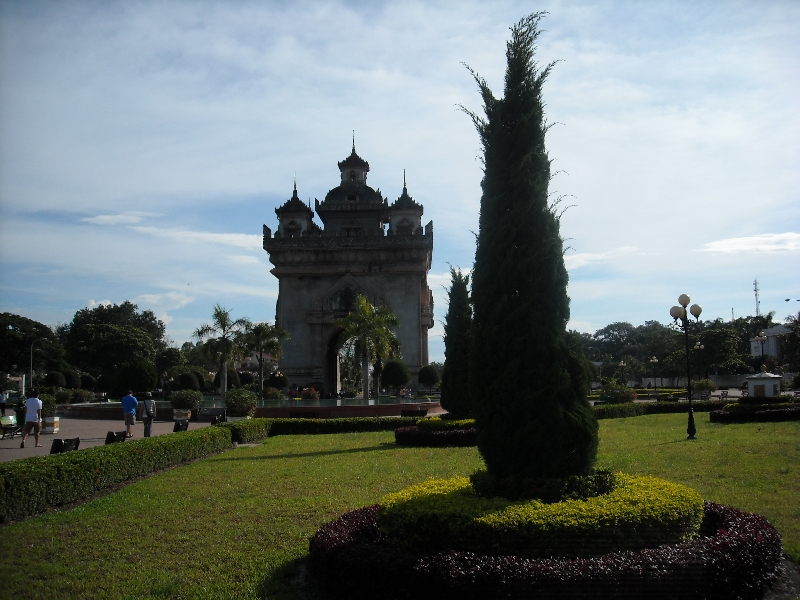 The Arc de Triomph in Vientiane, Laos