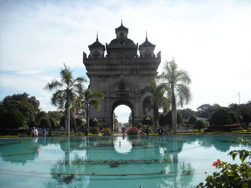 The Gate of Triumph in Vientiane, Vientiane Laos