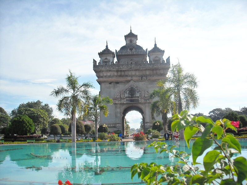 The Patuxay Monument in Vientiane, Vientiane Laos