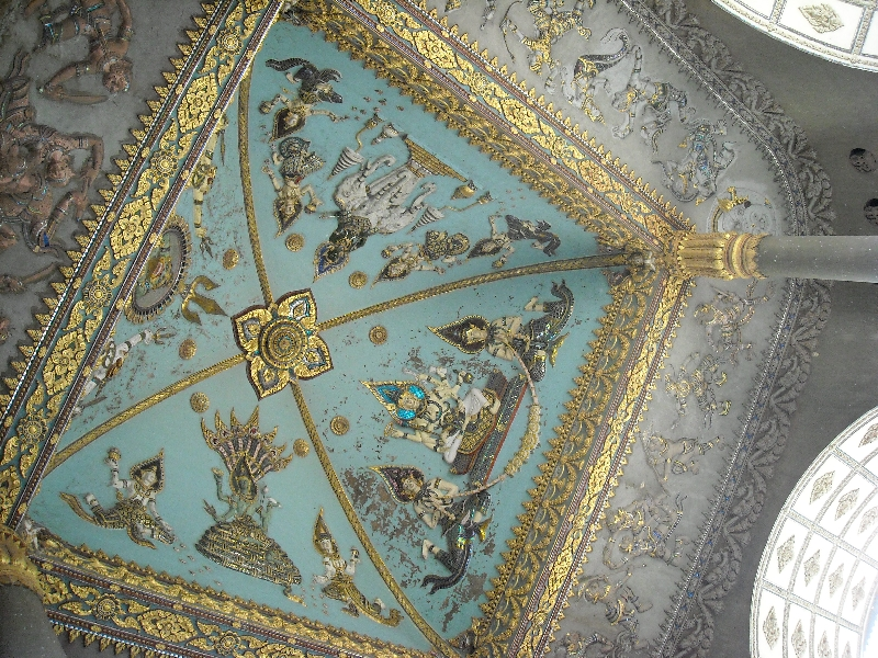 The ceiling of the Patuxay Monument, Vientiane Laos