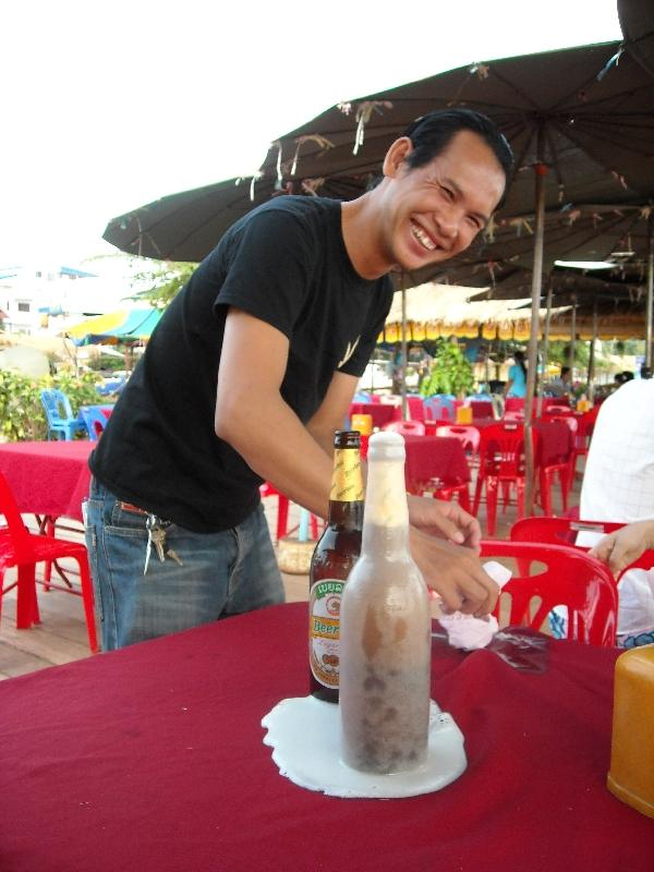 Smiling Lao eatery owner, Laos