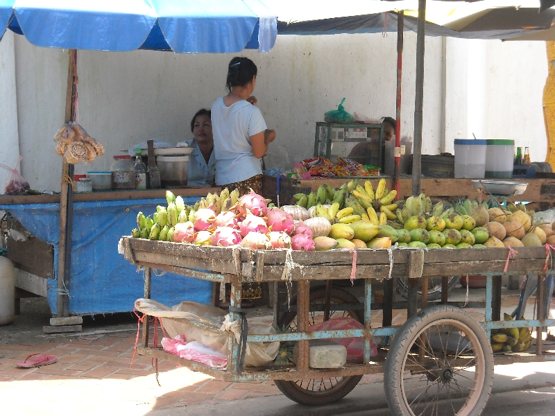 Food stalls in Vientiane, Laos, Vientiane Laos