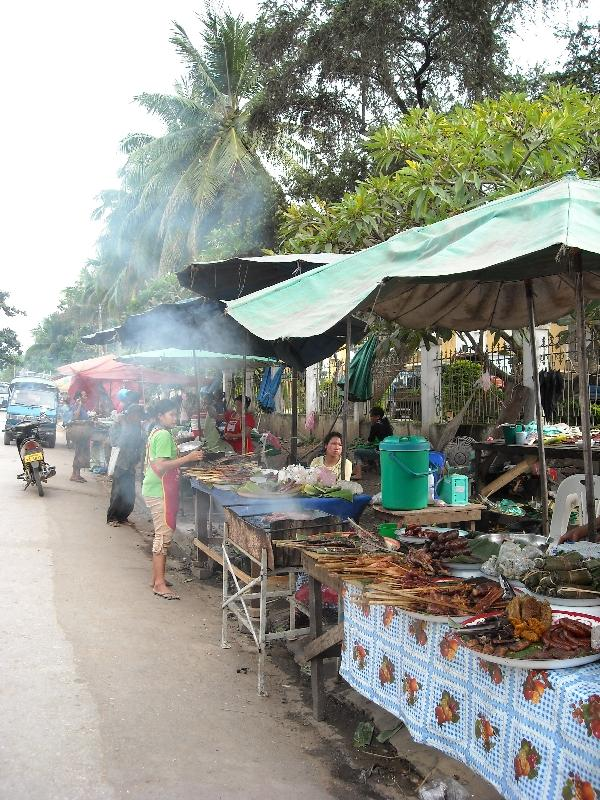 Food stalls in Luang Prabang, Laos, Laos