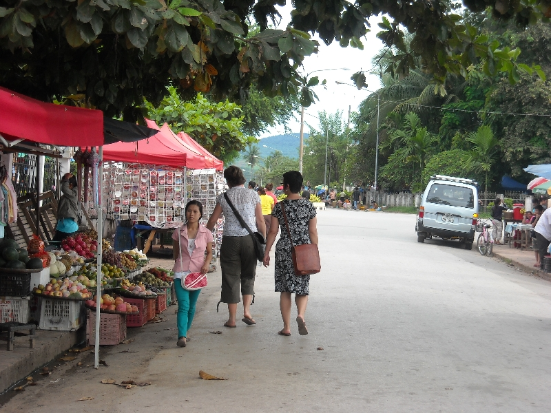 The night market in Luang Prabang, Laos