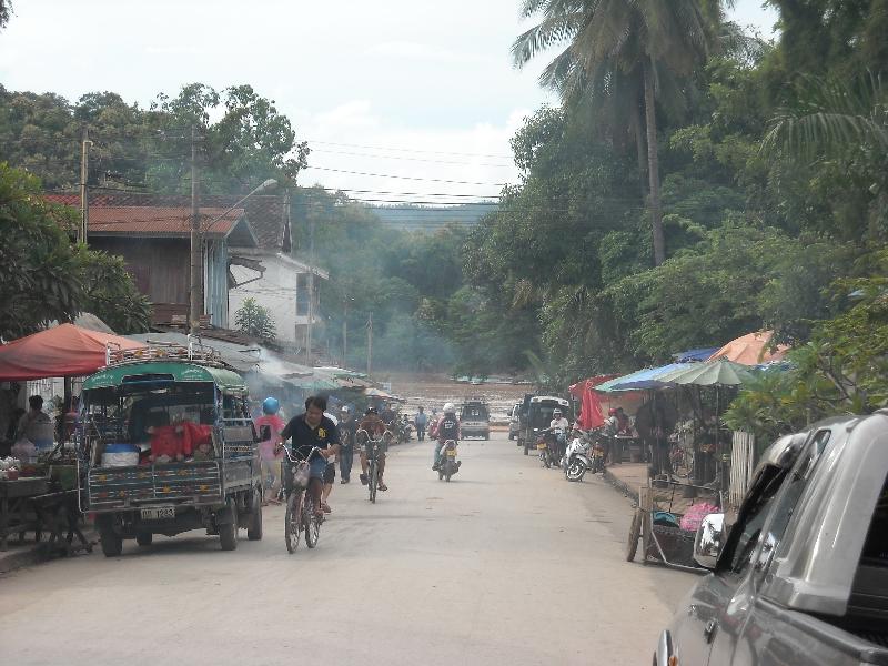 Street life in Luang Prabang, Laos