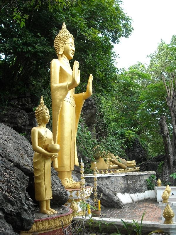 Golden shrine on Phu Si Hill, Luang Prabang Laos