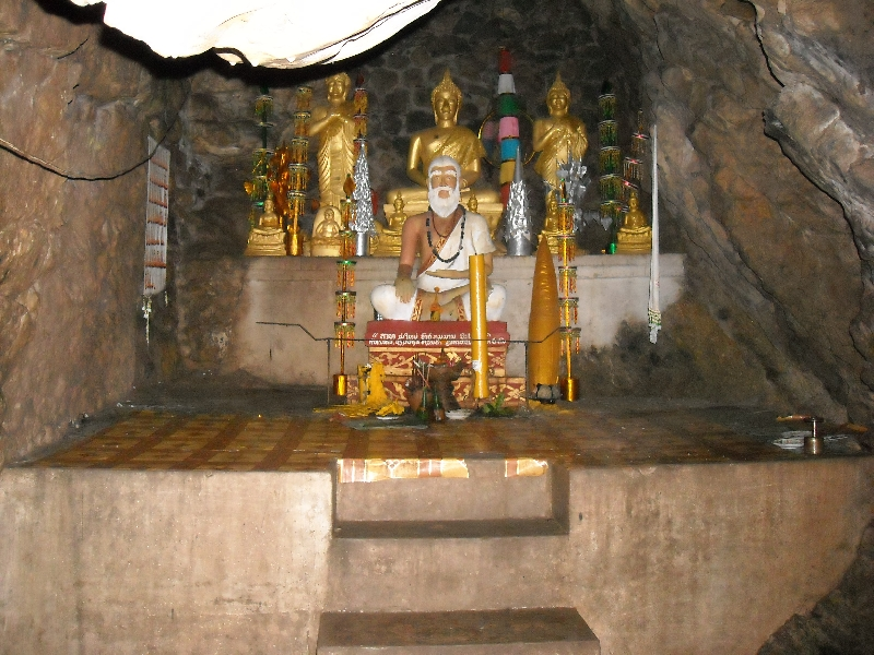 Cave with golden statues, Laos