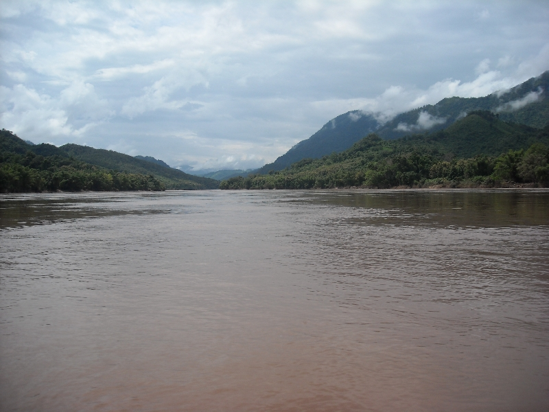 The brown Mekong River, Luang Prabang Laos