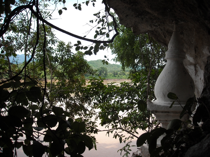 The river through the trees, Luang Prabang Laos