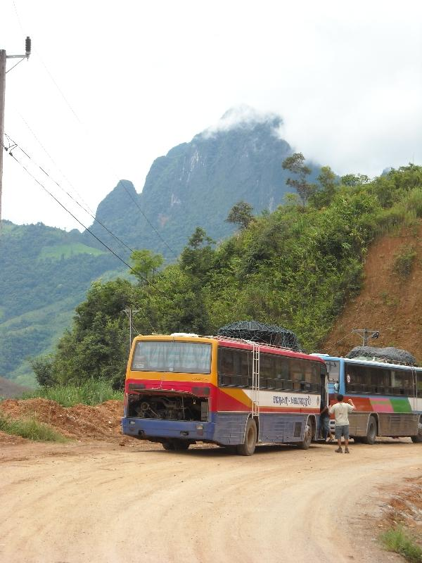 The unsealed roads of Luang Prabang, Laos
