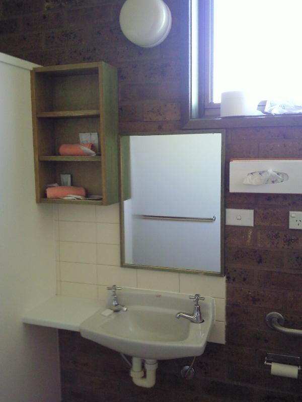 The bathroom in Apollo Bay, Australia