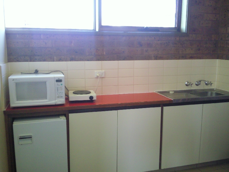 Kitchen in Apollo Bay accomodation, Australia