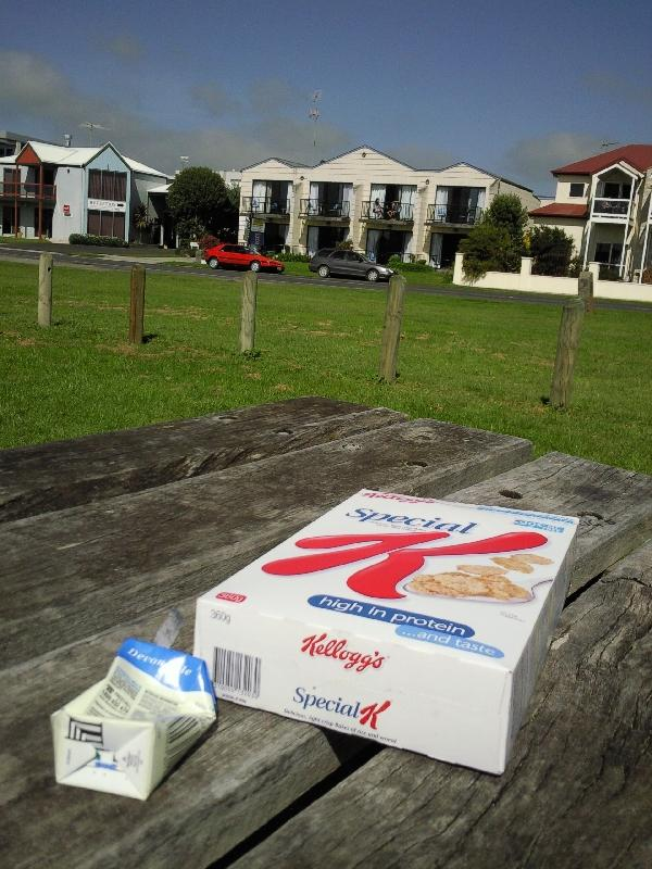 Having breakfast in Apollo Bay, Australia