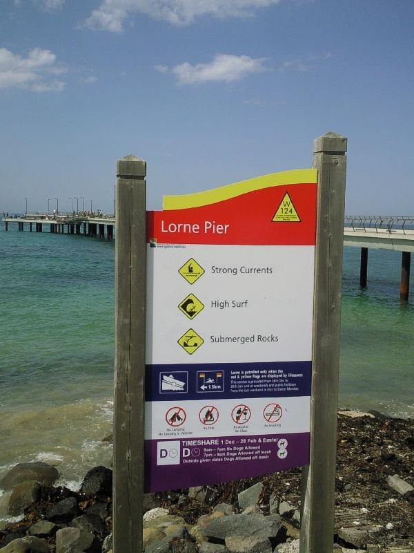 The Lorne Pier at the beach, Australia