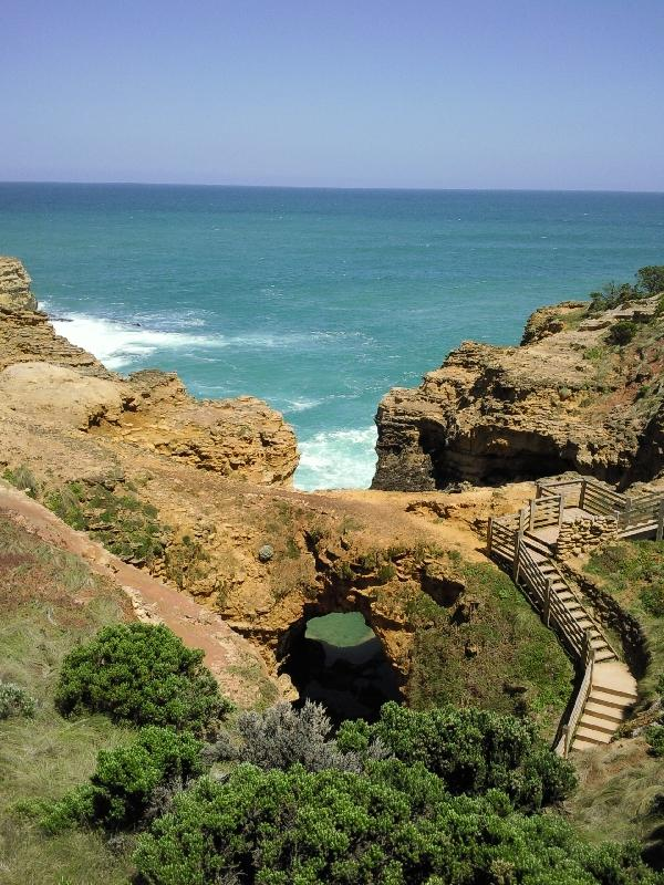 Walking down to The Grotto, Port Campbell Australia