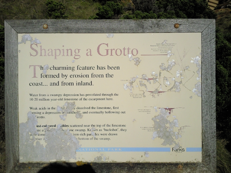 The shaping of The Grotto, Port Campbell Australia