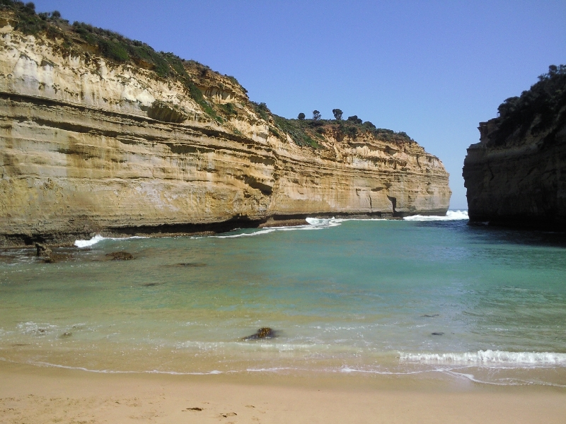 Beautiful gorge on the Great Ocean Road, Port Campbell Australia