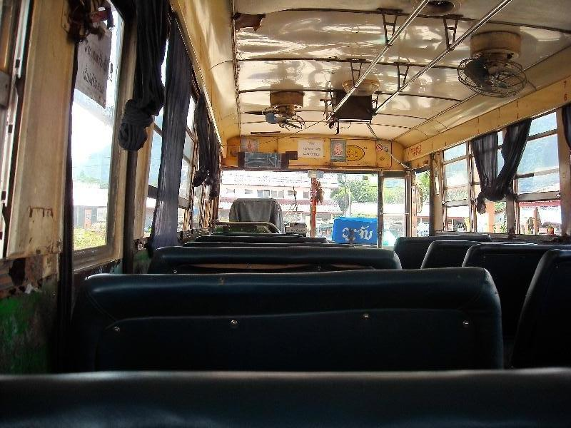 The bus to the Cambodian Border, Laos