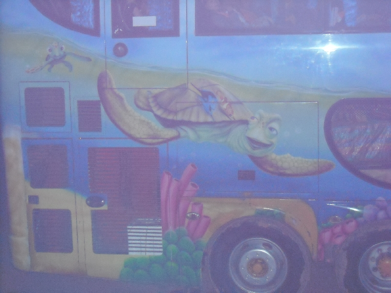 Colourful painted nightbus, Laos