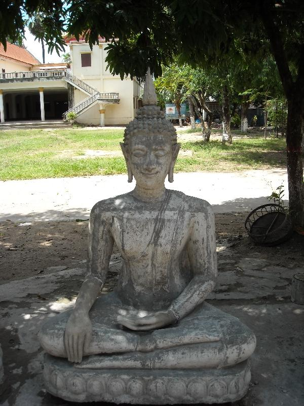 Savannakhet Province Laos Buddha statues of ceramic