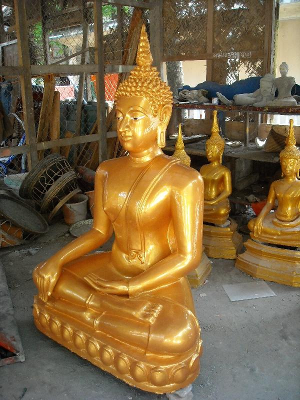 Gold painted Buddha statue, Laos