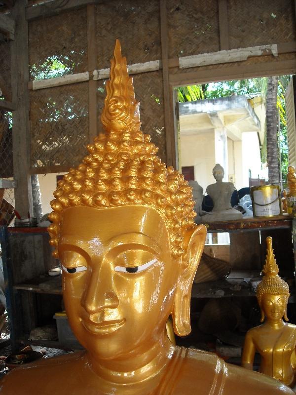 Golden Buddha statue, Savannakhet Province Laos