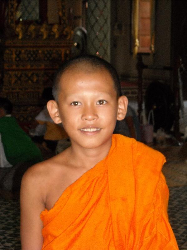 Lao monk in Savannakhet, Savannakhet Province Laos