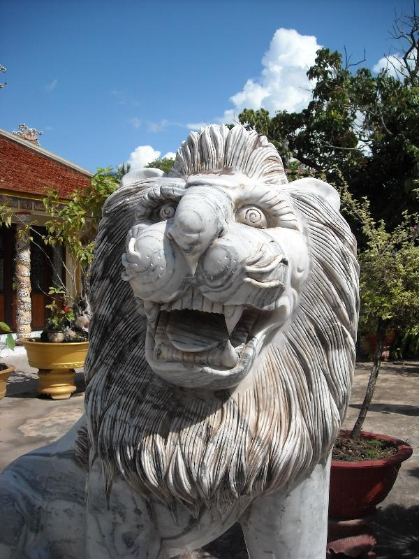 Lion statue in Savannakhet, Laos