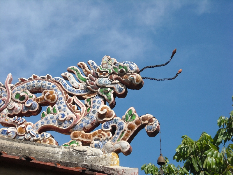 Dragon on a Chinese Temple, Laos