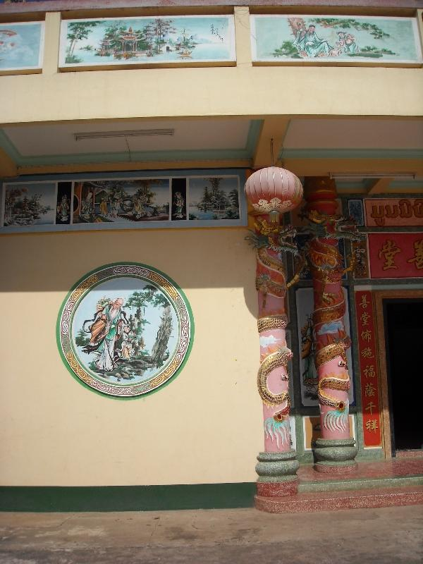 Beautiful wall paintings, Savannakhet Province Laos