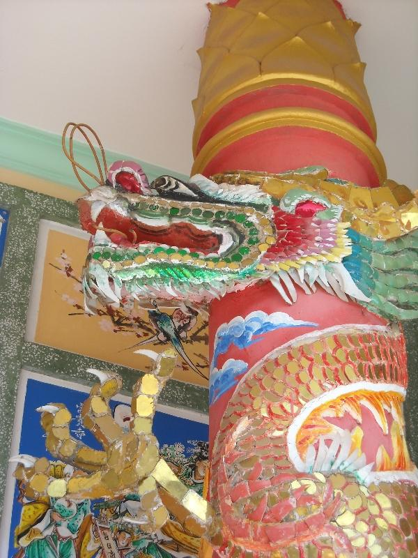 Savannakhet Province Laos Chinese dragon decorations