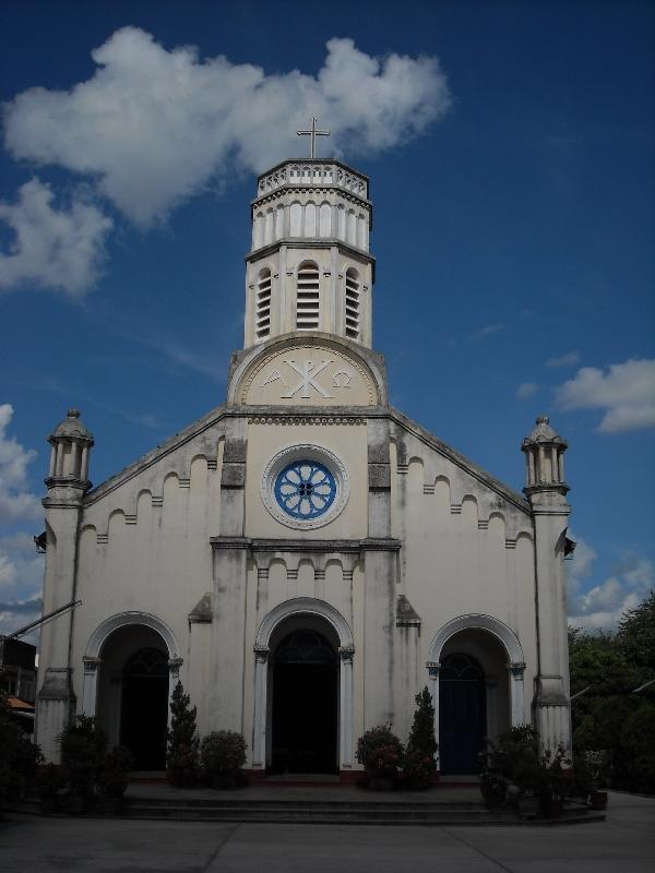 French Catholic Church in Savannakhet, Laos