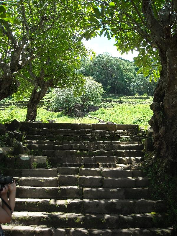 Thousands steps up the hill, Cambodia