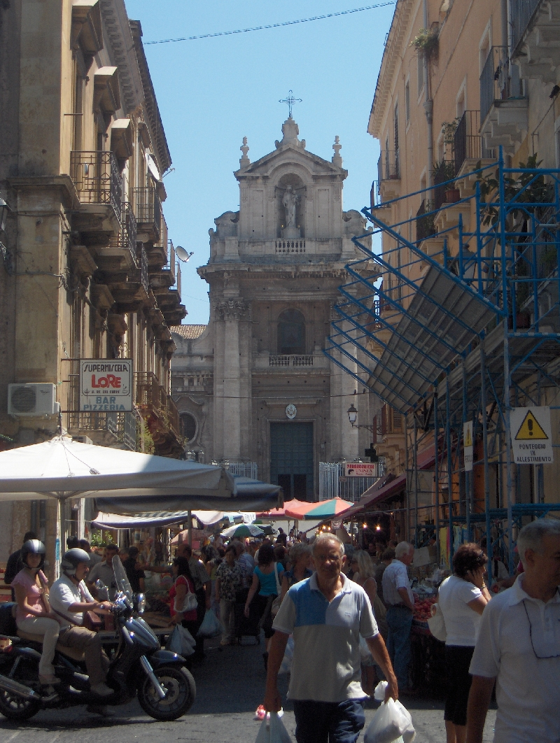 The early morning markets in Catania, Italy