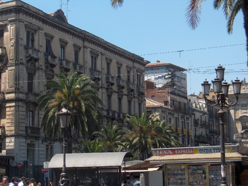 Catania Italy Crossing with Via Etnea
