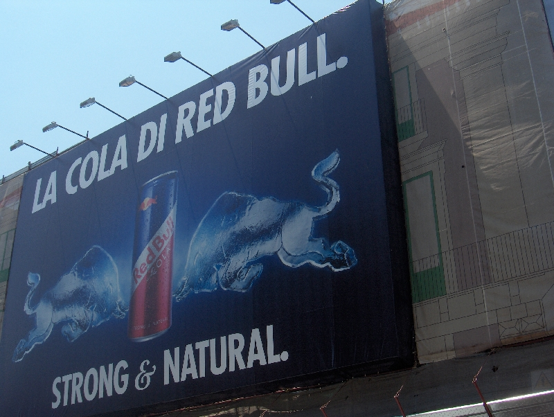 Red Bull campaign in Catania, Italy