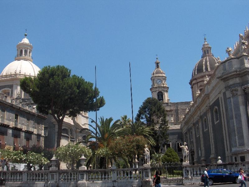 Piazza del Duomo, main square, Catania Italy