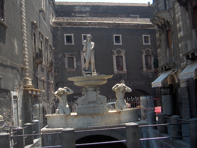 Catania Italy Fountain and wishing well