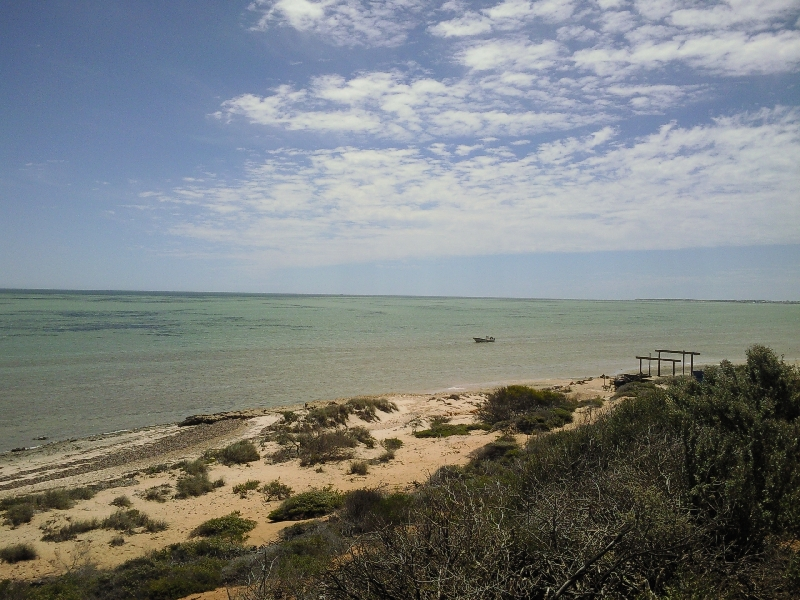 The ocean in Denham, Shark Bay, Denham Australia