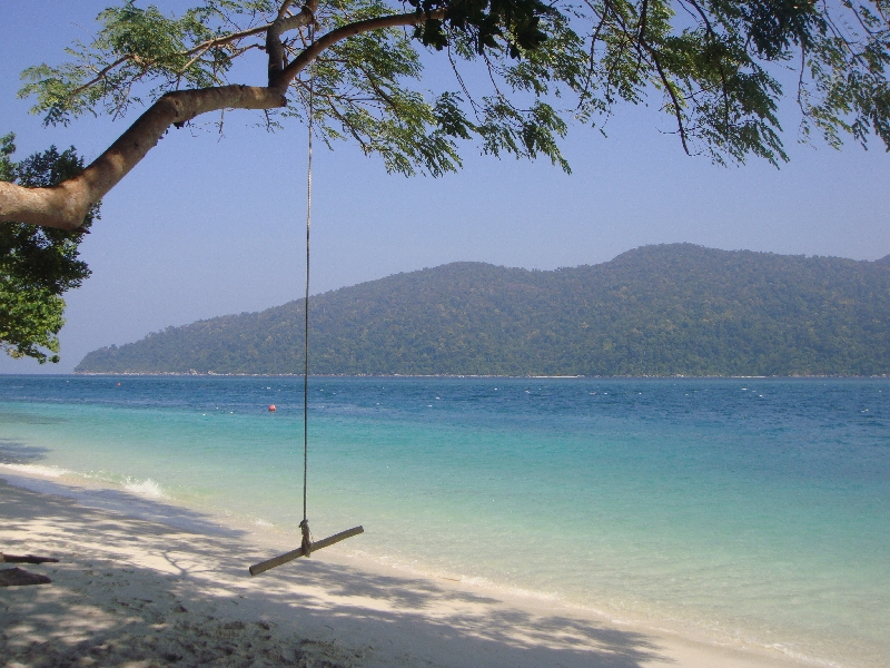 Beach swing at Ko Rawi, Ko Rawi Thailand