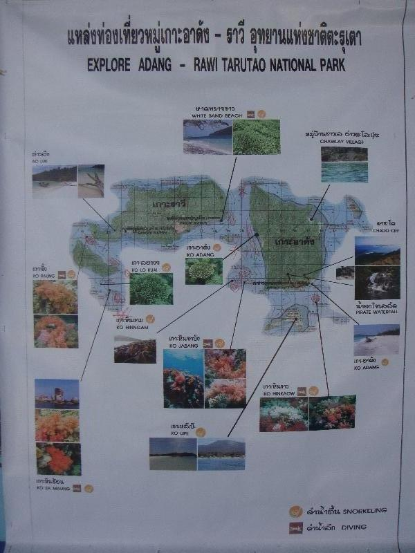 Map of Thailand Islands, Ko Rawi Thailand