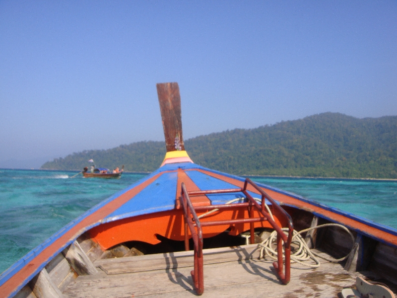 Renting a long tail boat in Thailand, Thailand
