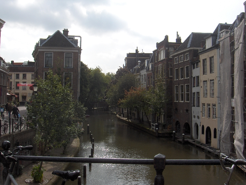 The canals in Utrecht, Netherlands