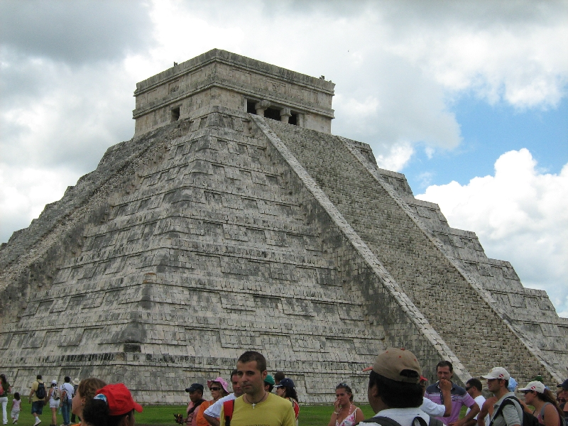 Pictures of El Castillo temple, Tulum Mexico