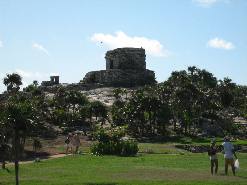 El Castillo from a distance, Mexico