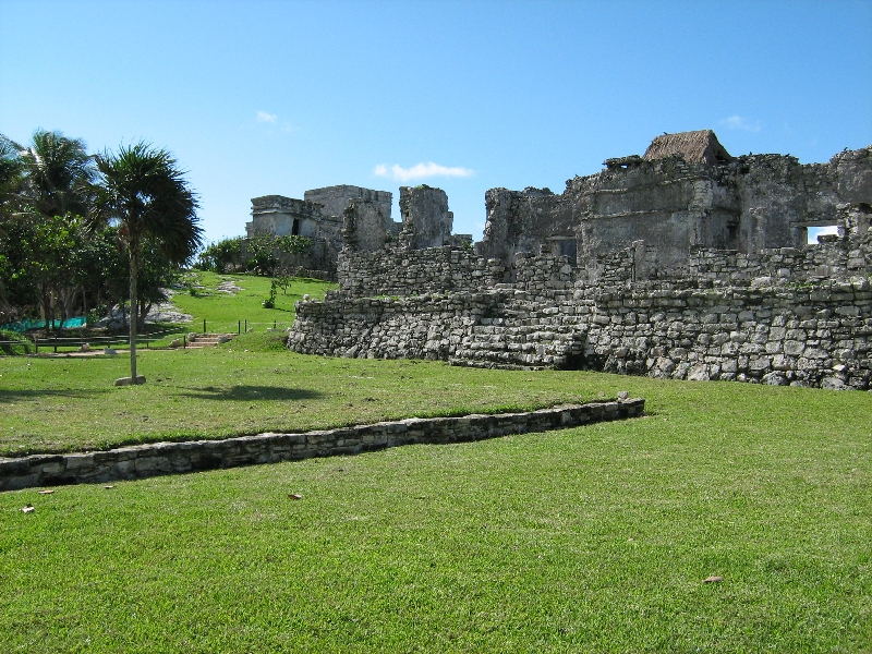 Ancient Maya ruins in Quantana Roo, Tulum Mexico