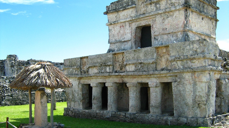 The Temple of the Frescoes, Tulum Mexico