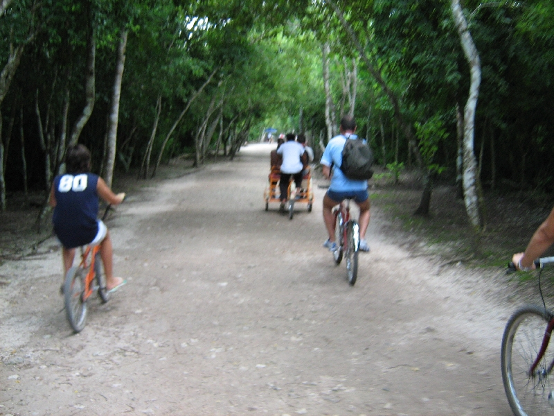 Cycling to keep in shape, Tulum Mexico